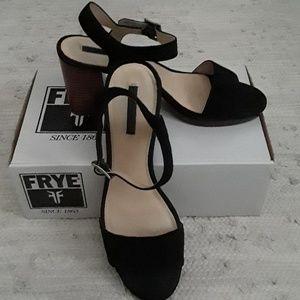 Frye Suede Block Heels
